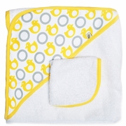 JJ Cole Hooded Towel And Washcloth Set - Yellow Ducks