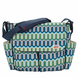 Jonathan Adler Dash Messenger Diaper Bag - Chevron by Skip Hop
