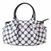 JP Lizzy Allure Diaper Bag - Grey/White Dot