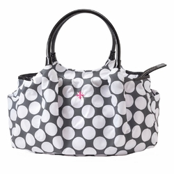 TEMPORARILY OUT OF STOCK JP Lizzy Allure Diaper Bag - Grey/White Dot