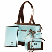 JP Lizzy Classic Tote Diaper Bag Set - Chocolate Ice
