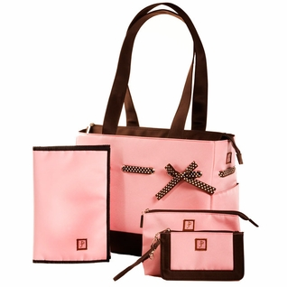 SOLD OUT JP Lizzy Classic Tote Diaper Bag Set - Strawberry Truffle