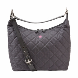 JP Lizzy Quilted Hobo Diaper Bag - Ash Canary