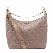JP Lizzy Quilted Hobo Diaper Bag - Biscotti Noir