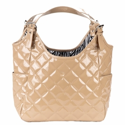 JP Lizzy Quilted Satchel Diaper Bag - Crema