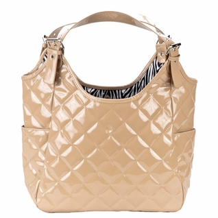 SOLD OUT JP Lizzy Quilted Satchel Diaper Bag - Crema