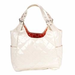 SOLD OUT JP Lizzy Quilted Satchel Diaper Bag - Dreamsicle