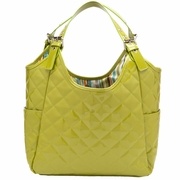 JP Lizzy Quilted Satchel Diaper Bag - Pistachio