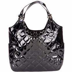 JP Lizzy Quilted Satchel Diaper Bag - Rocky Road