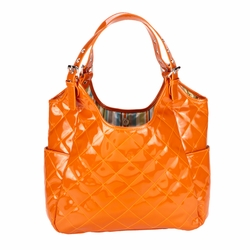 JP Lizzy Quilted Satchel Diaper Bag - Sherbert