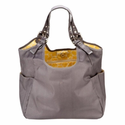 JP Lizzy Quilted Satchel Diaper Bag - Slate Citron