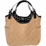 JP Lizzy Quilted Satchel Diaper Bag - Tawny Raven
