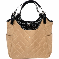 TEMPORARILY OUT OF STOCK JP Lizzy Quilted Satchel Diaper Bag - Tawny Raven