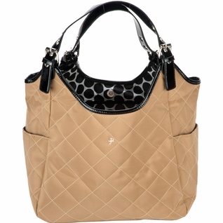 SOLD OUT JP Lizzy Quilted Satchel Diaper Bag - Tawny Raven