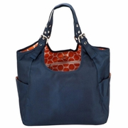 SOLD OUT JP Lizzy Satchel Diaper Bag - Navy Mandarin