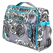 Ju-Ju-Be B.F.F. Tote/Backpack Style Diaper Bag - Charcoal Roses