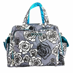 TEMPORARILY OUT OF STOCK Ju-Ju-Be Be Prepared Messenger/Tote Diaper Bag - Charcoal Roses