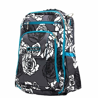 SOLD OUT Ju-Ju-Be Be Right Back Backpack Style Diaper Bag - Charcoal Roses