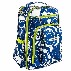Ju-Ju-Be Be Right Back Backpack Style Diaper Bag - Cobalt Blossoms