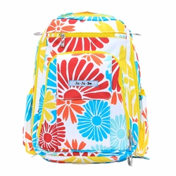 TEMPORARILY OUT OF STOCK Ju-Ju-Be Be Right Back Backpack Style Diaper Bag - Flower Power