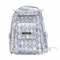 Ju-Ju-Be Be Right Back Backpack Style Diaper Bag - Silver Ice