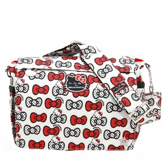 SOLD OUT Ju-Ju-Be Better Be Messenger Style Diaper Bag - Hello Kitty Peek-A-Bow