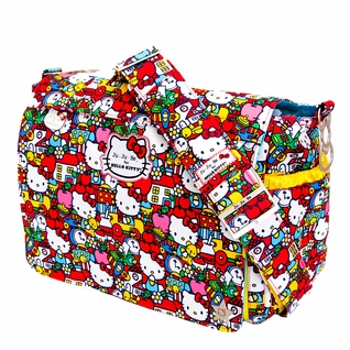 SOLD OUT Ju-Ju-Be Better Be Messenger Style Diaper Bag - Hello Kitty Tick Tock