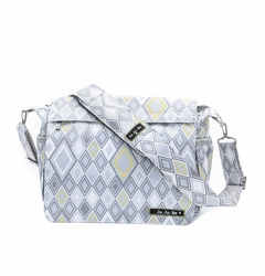 TEMPORARILY OUT OF STOCK Ju-Ju-Be Better Be Messenger Style Diaper Bag - Silver Ice