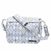 Ju-Ju-Be Better Be Messenger Style Diaper Bag - Silver Ice