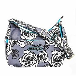 Ju-Ju-Be Hobo Be Messenger Style Diaper Bag - Charcoal Roses