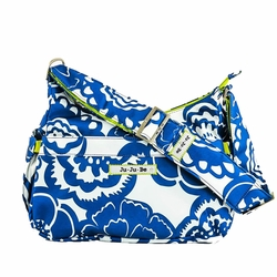 Ju-Ju-Be Hobo Be Messenger Style Diaper Bag - Cobalt Blossoms