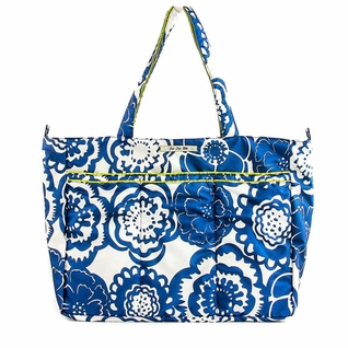 SOLD OUT Ju-Ju-Be Super Be Tote Bag - Cobalt Blossoms