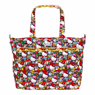 SOLD OUT Ju-Ju-Be Super Be Tote Bag - Hello Kitty Tick Tock