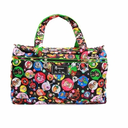 TEMPORARILY OUT OF STOCK Ju-Ju-Be Super Star Duffel Diaper Bag - Tokidoki Bubble Trouble