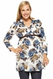 Jules And Jim Belted Floral Maternity Nursing Tunic