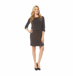 Jules And Jim Button Shoulder Maternity Sweater Dress