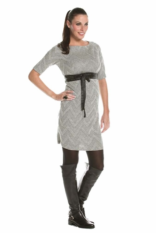SOLD OUT Jules And Jim Harris Chevron Maternity Sweater Dress