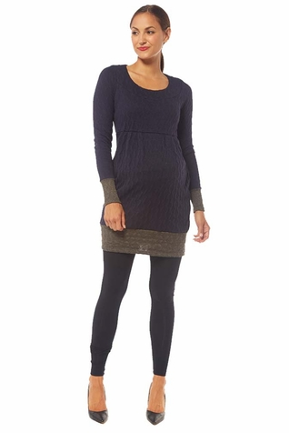 Jules And Jim Two Tone Knit Sweater Dress