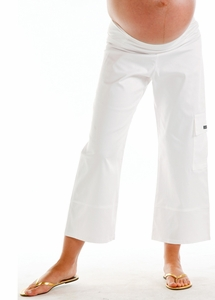 Juliet Dream Cropped Cargo Maternity Pants - FINAL SALE