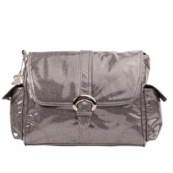 """SOLD OUT Kalencom """"A Step Above"""" Buckle Diaper Bag  - Laminated Crystals Black"""