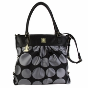 Kalencom City Slick The Wild Side Tote Diaper Bag - Bubbles Silver