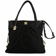 Kalencom City Slick The Wild Side Tote Diaper Bag - Peacock Feathers Black
