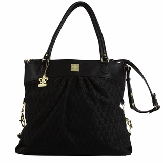 SOLD OUT Kalencom City Slick The Wild Side Tote Diaper Bag - Peacock Feathers Black