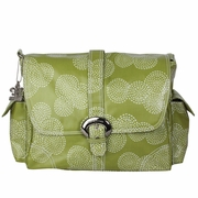 Kalencom Coated Buckle Diaper Bag - Matte Stitches Olive Green