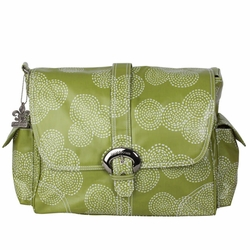 SOLD OUT Kalencom Coated Buckle Diaper Bag - Matte Stitches Olive Green