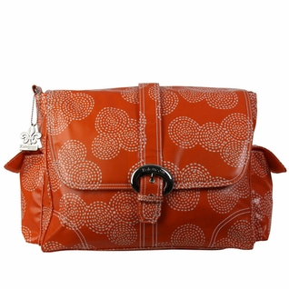 SOLD OUT Kalencom Coated Buckle Diaper Bag - Matte Stitches Orange