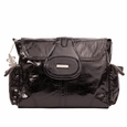 Kalencom Elite Faux Snakeskin Textured Diaper Bag - Cosmopolitan Black