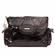 Kalencom Elite Snakeskin Textured Diaper Bag - Cosmopolitan Black