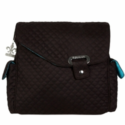 Kalencom Ozz Quilted Messenger Diaper Bag - Manhattan Black