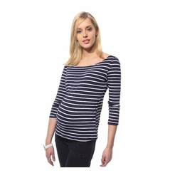L'Avenue des Bebes 3/4 Sleeve Maternity Sailor Top
